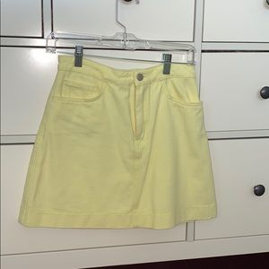 American Apparel light yellow size small skirt!